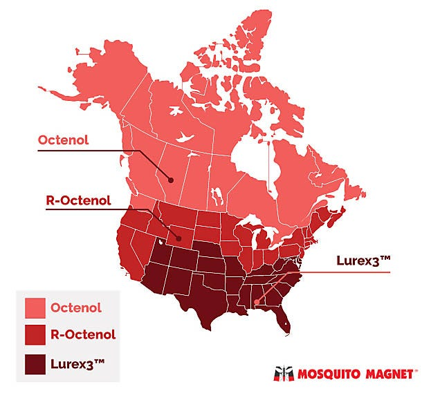 Mosquito Attractant Map